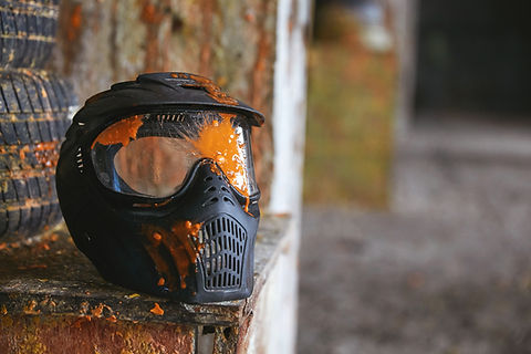 Masque avec éclaboussures de paintball