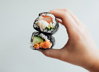 Conos de sushi