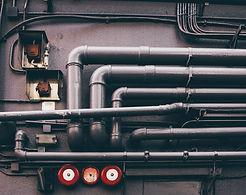 Réseau de tuyaux métalliques