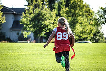 Joueur de football drapeau