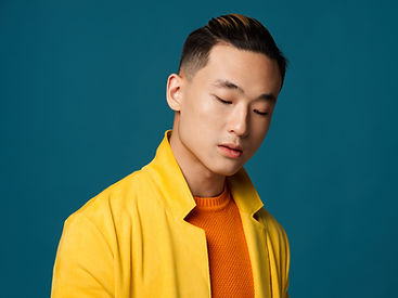 Stylish Young Man in Yellow Jacket