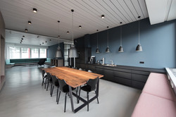 office kitchen with custom office furniture