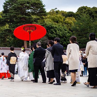 Traditional Japanese Wedding Progression