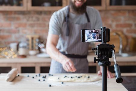Video de cocina en casa