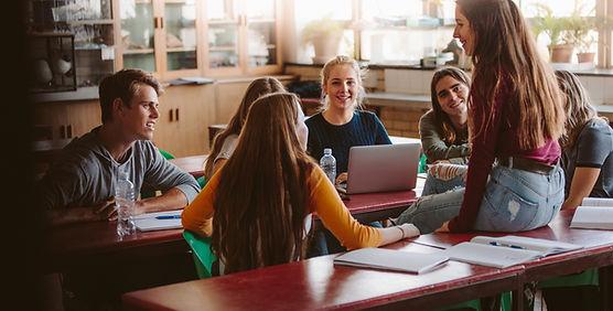 Estudiantes durante el descanso
