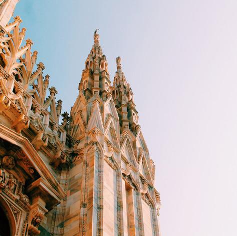 Mailander Dom mit  neogotischen Bauelementen