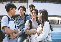 Group Of School Friends Talking Together