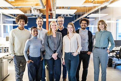 Diverse-team-of-smiling-professionals