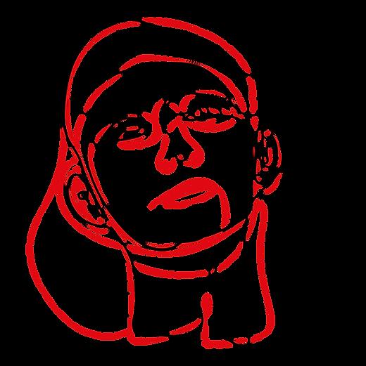 抽象的な男