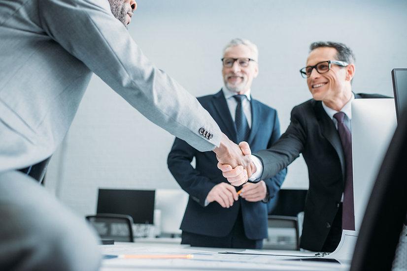 Business handshake Design my website