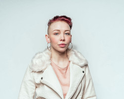 White Coat and Earrings