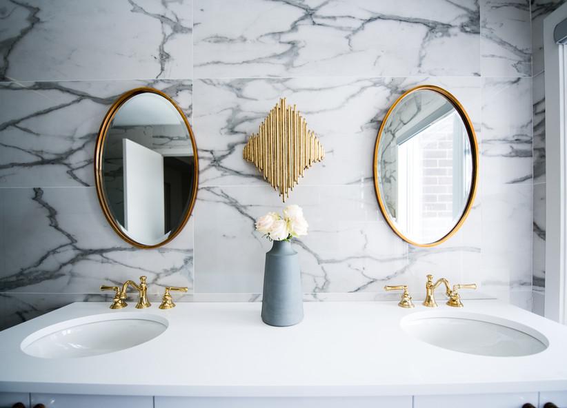 Doppio lavabo in bagno