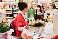 Caisse au supermarché