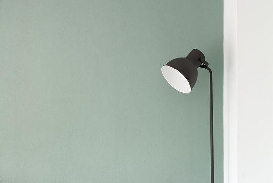 Schwarze Stehlampe