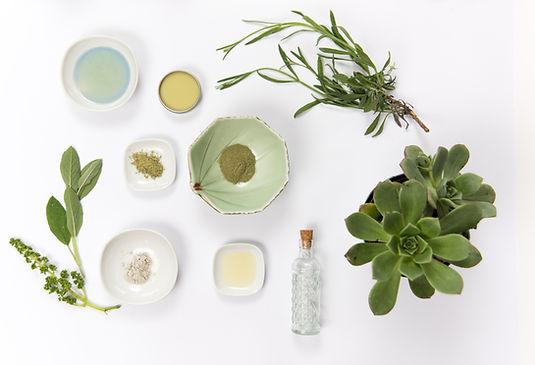 Materiales cosméticos naturales
