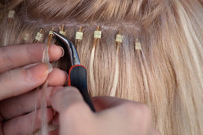 Our hair extensions specialists provide the best hair extension applications possible. We are trained in almost every style of hair extension application there is!
