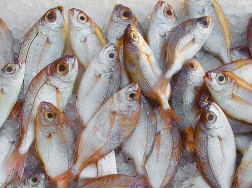 White fish, potato, carrot and kale