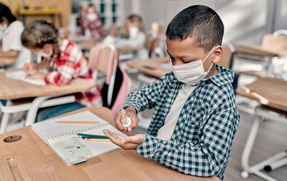 Student With Face Mask
