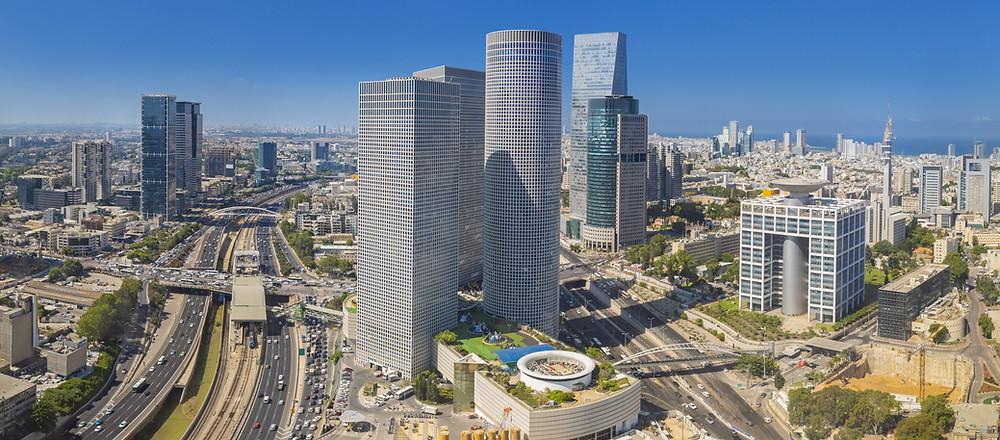 מבט אל תל אביב ומגדלי עזריאלי