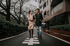 雨の中のデート