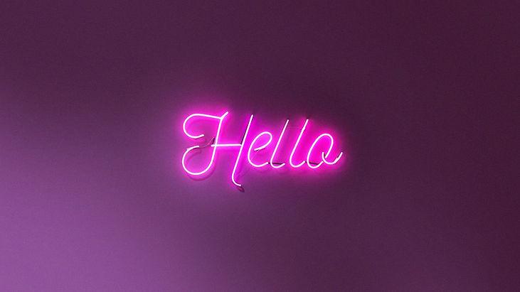 Neon Hello