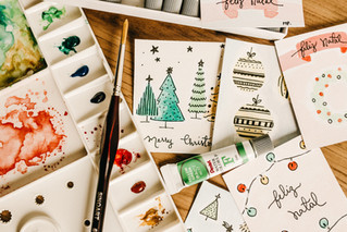 12/9 - Making Christmas Cards