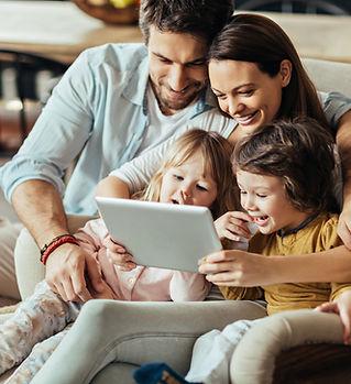 Family on Digital Tablet