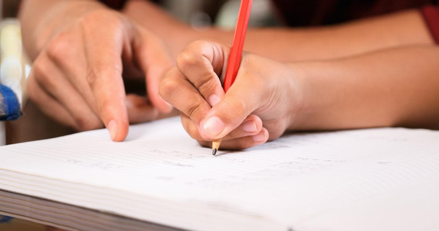 Escrevendo em um Notebook