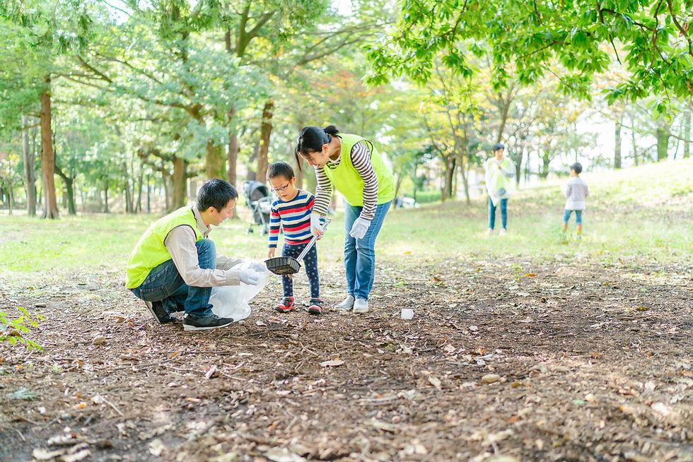 公園の清掃