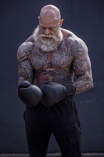 Tattooed Boxer