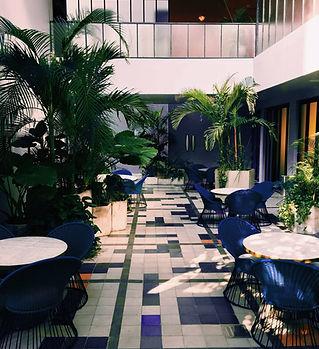 Hotel Outdoor Lobby