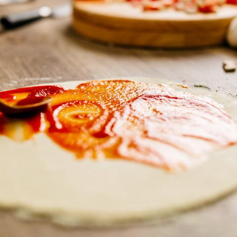 la fabrication de pizza