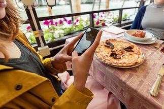 Pizza al ristorante