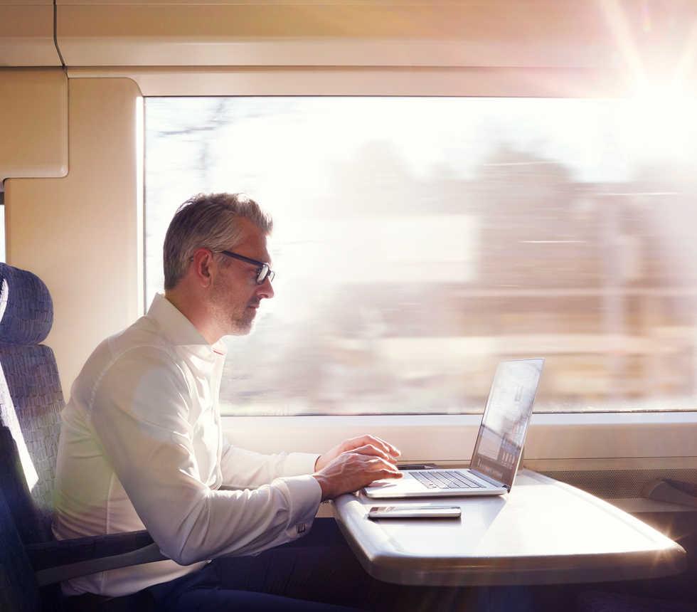 Arbeiten am Zug