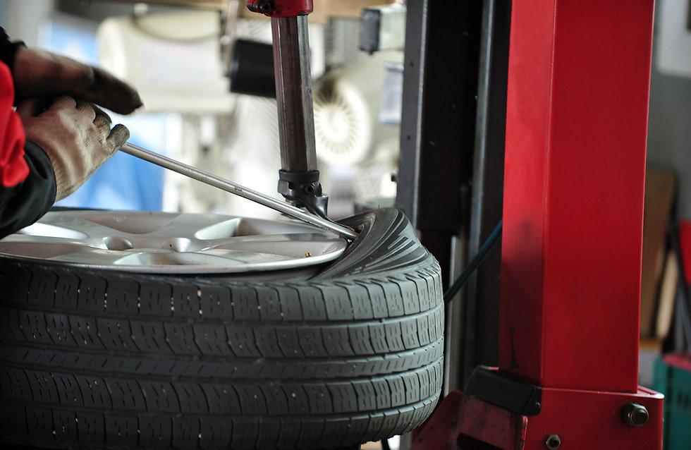 Tire Under Repair