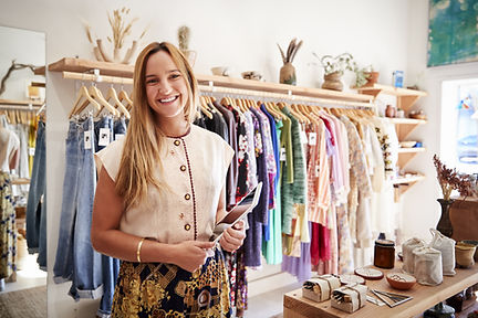 Impiegato del negozio di moda