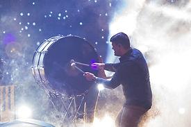 Playing Big Drum