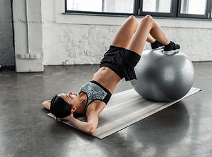 Training mit Fit Ball