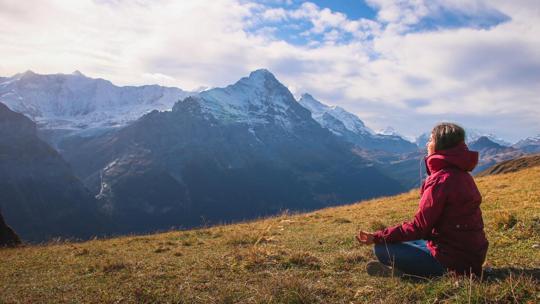 Traveller Meditating