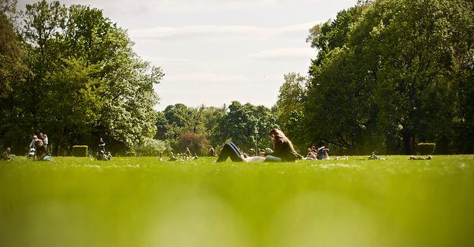 Mensen in Park