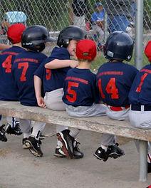 Little League Team on Bench