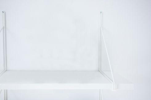 White Shelf on White Wall