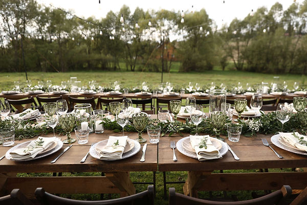 Twist Events Outdoor Wedding Table