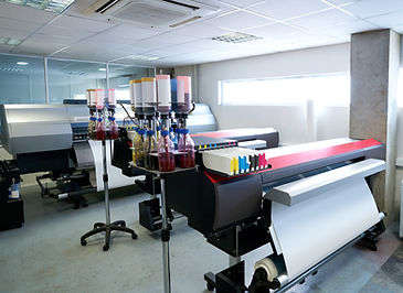 Wide format printer for signs or banners