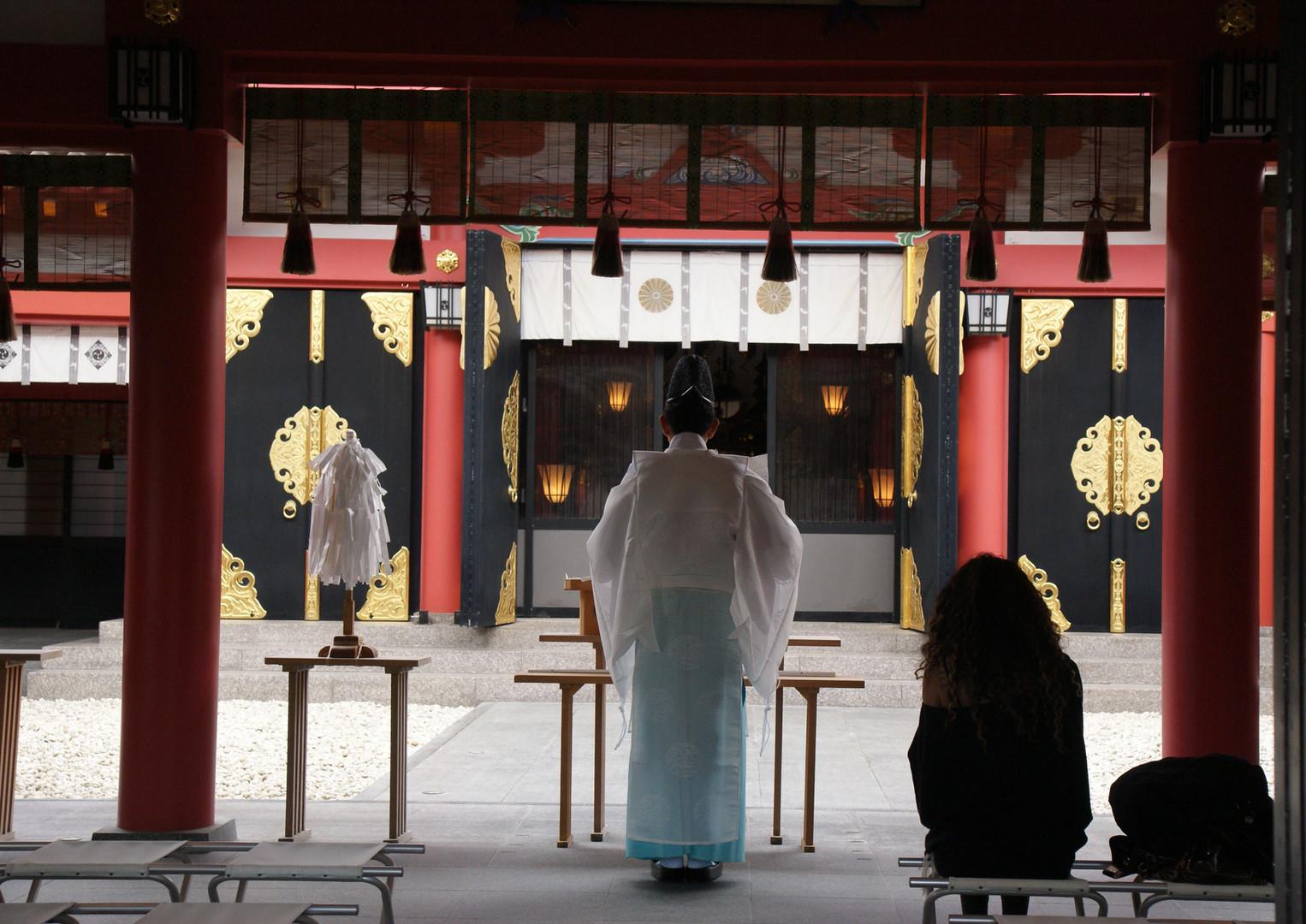 Cerimonia del tempio giapponese