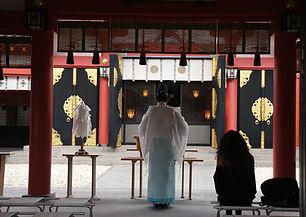 Cérémonie du temple du Japon
