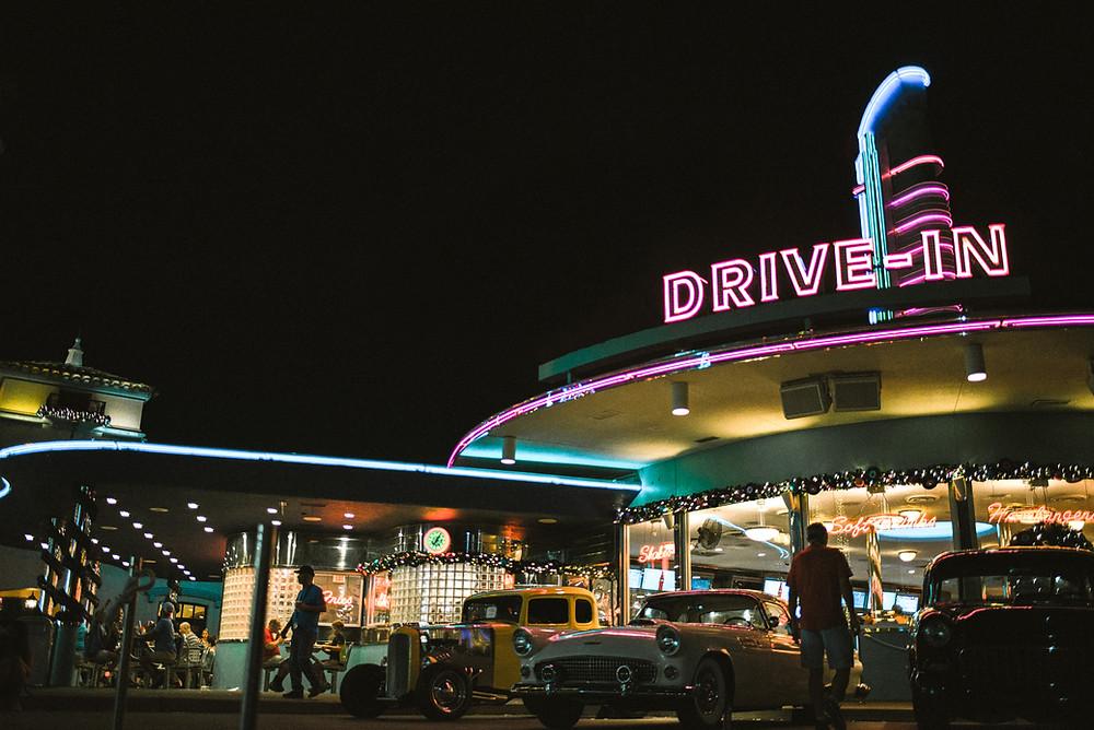 drive in diner classic americana scene