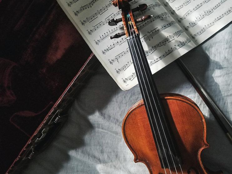 Violin and Music Sheet