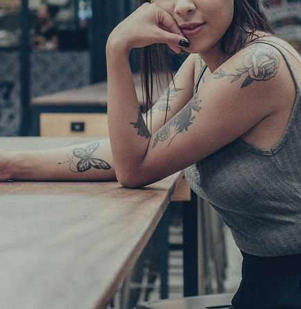 Cool Girl with Tattoos