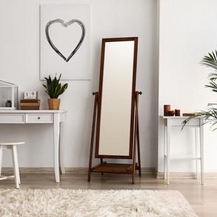 Millennium Glass: Freestanding bedroom mirror